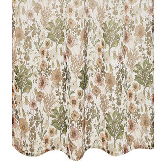 Floral print degradé curtain