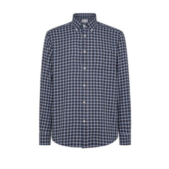 Regular-fit button-down shirt in organic cotton