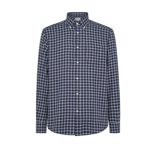 Regular-fit button-down shirt in organic cotton
