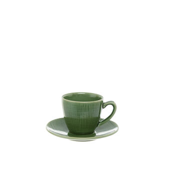 Solid colour ceramic coffee cup