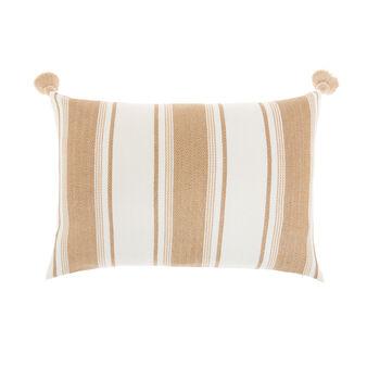Cuscino in lino e cotone a righe 35x55cm