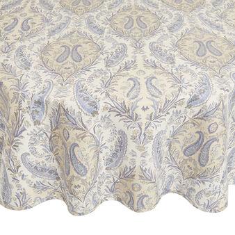 Tovaglia rotonda puro cotone stampa soft paisley