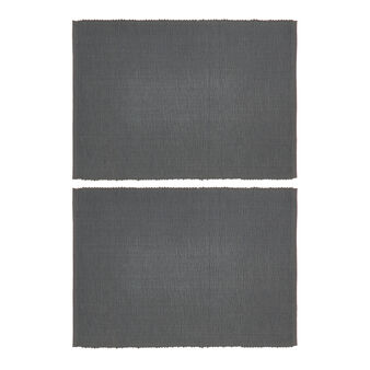 Set of 2 solid colour table mats in 100% cotton