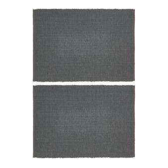 Set 2 tovagliette puro cotone tinta unita