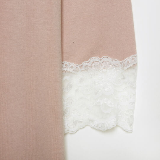 Jersey nightgown with lace trim