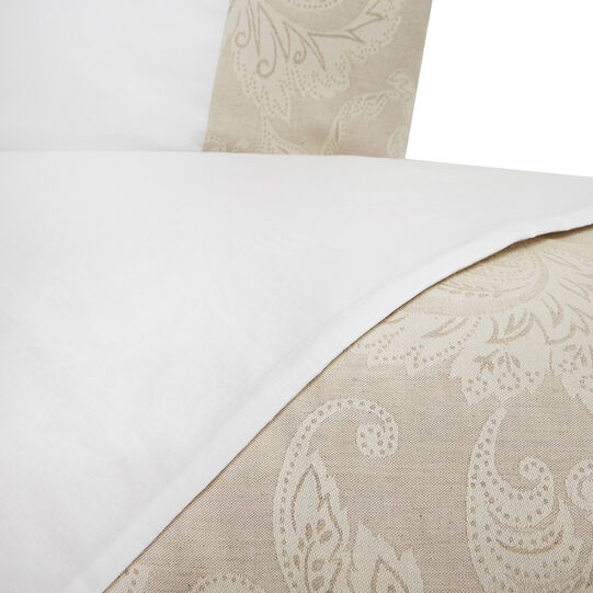Portofino 100% cotton duvet cover with linen trim
