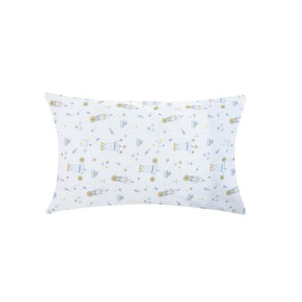 100% cotton percale pillowcase with teddy bears and polka dots