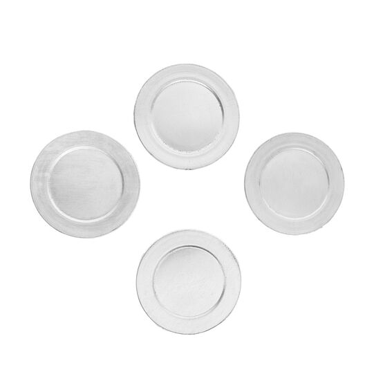 Set of 4 solid colour coasters