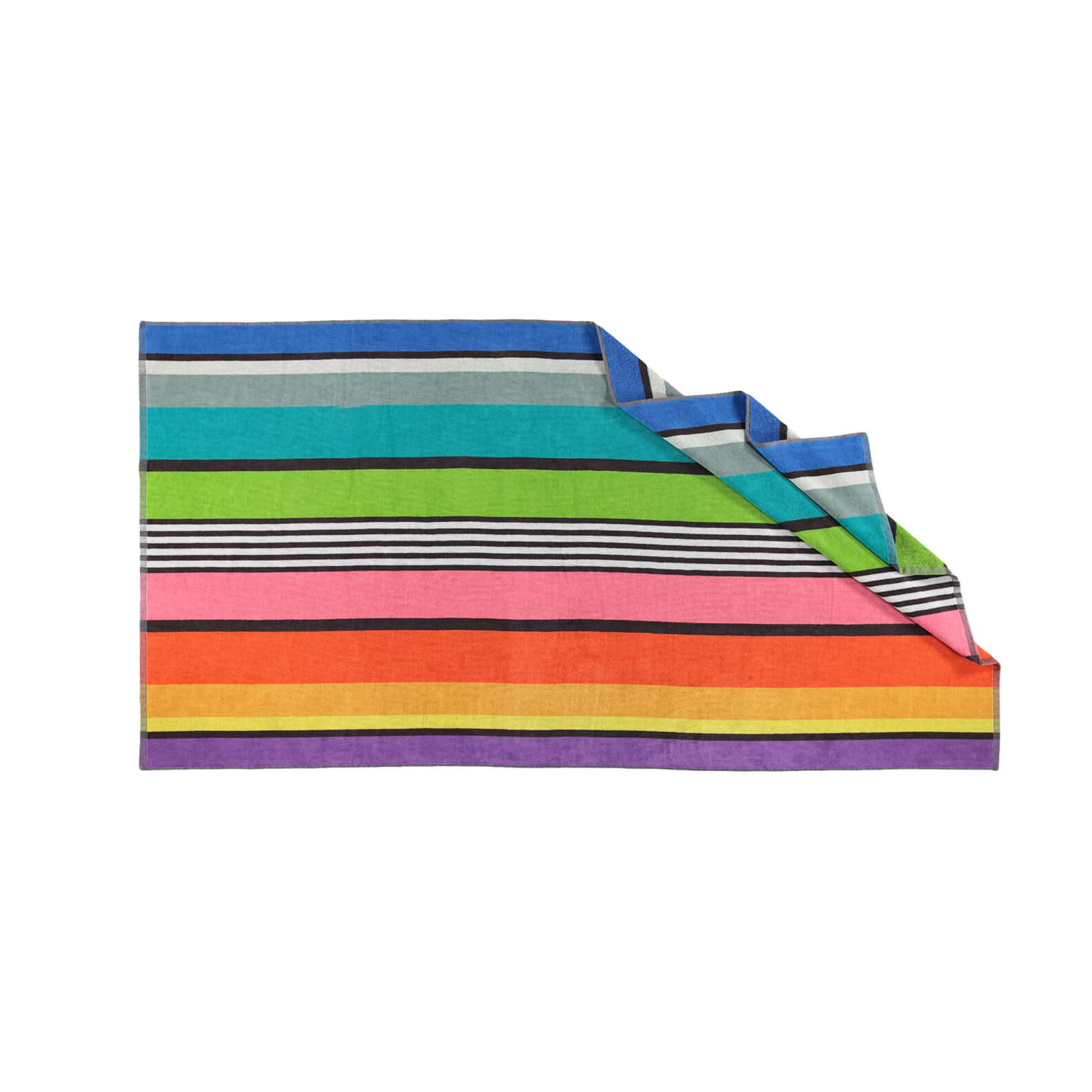 440285384662 Yarn-dyed beach towel in 100% cotton with stripes - coincasa