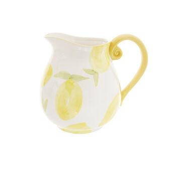 Ceramic jug with lemons motif