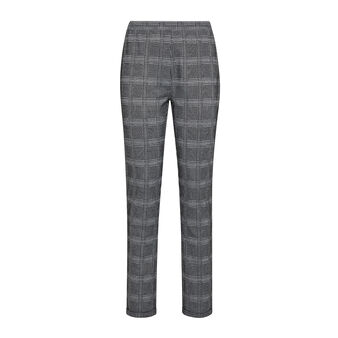 Lurex checked patterned trousers