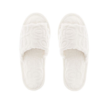 Solid colour jacquard terry slippers