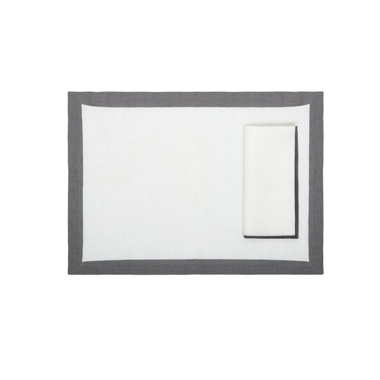 White linen napkin Davide Oldani for Coincasa