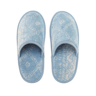 Slippers in pure cotton wool yarn