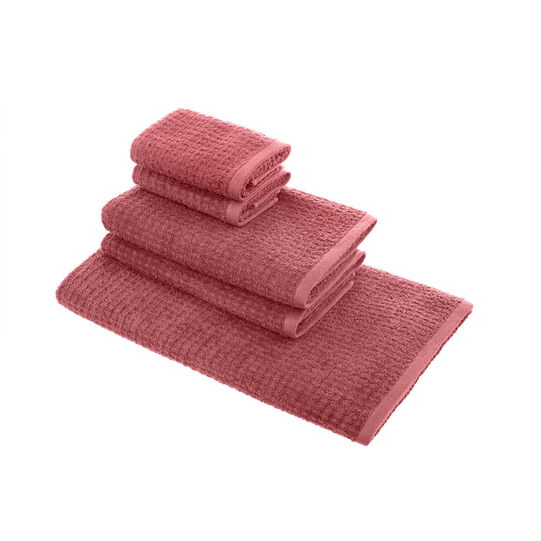Set of 5 towels in 100% cotton