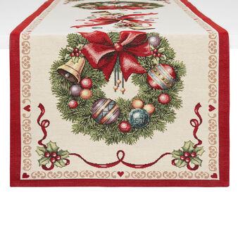 Runner in tessuto gobelin motivo natalizio