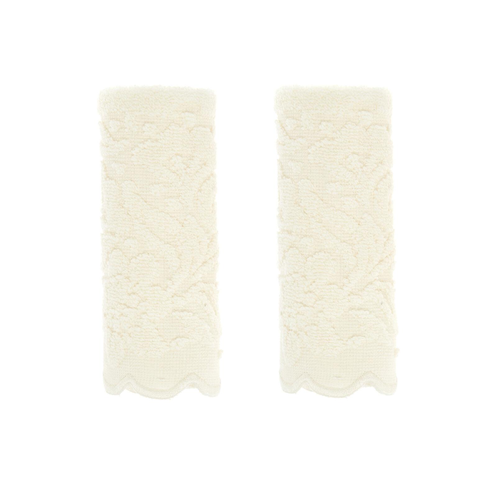 Set 2 lavette puro cotone jacquard