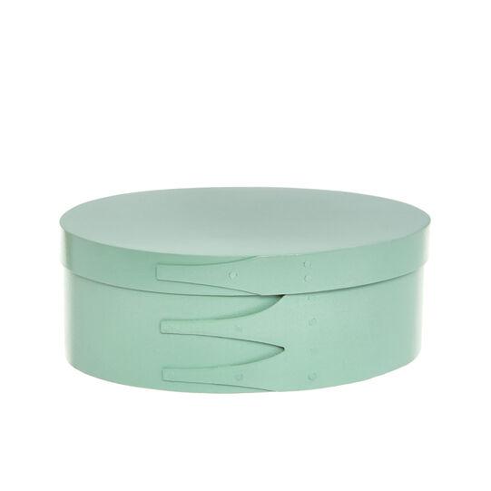 Round balsa wood box