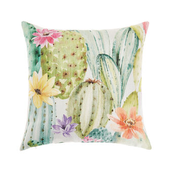 Cushion with digital cactus print