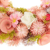 Decorative wreath with dried flowers