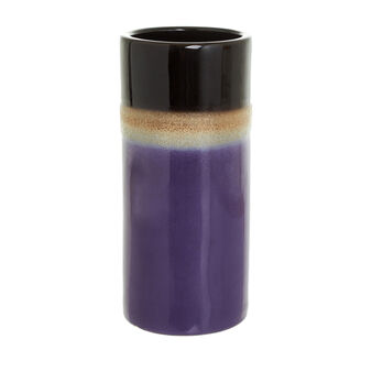 Cylindrical vase in coloured ceramic