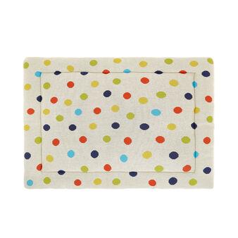 Child's mattress in polka dot cotton