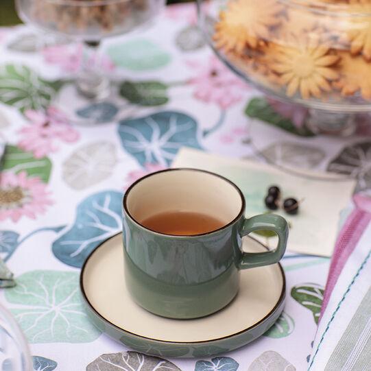 Tazza da caffè stoneware bicolore