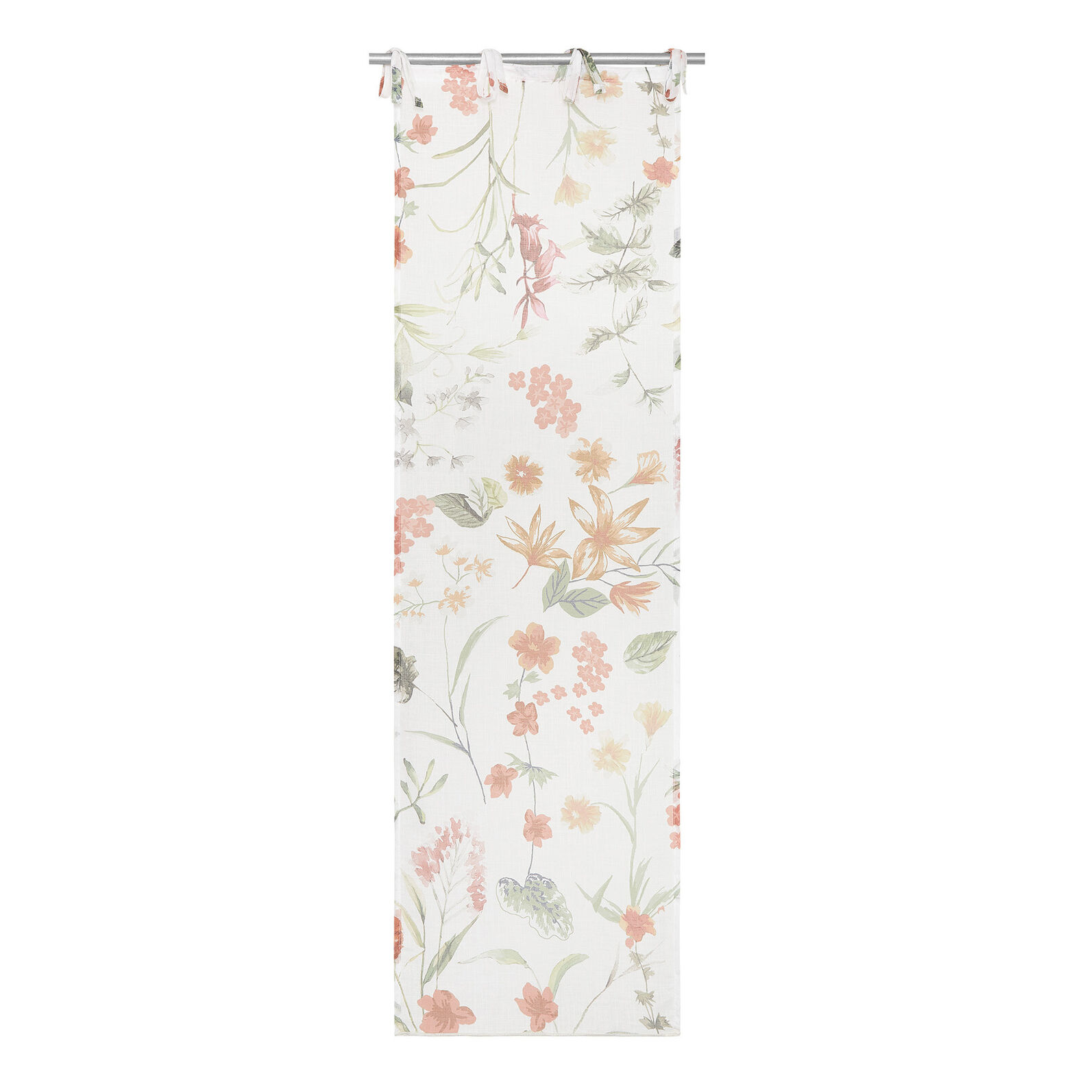 Small floral motif curtain with laces