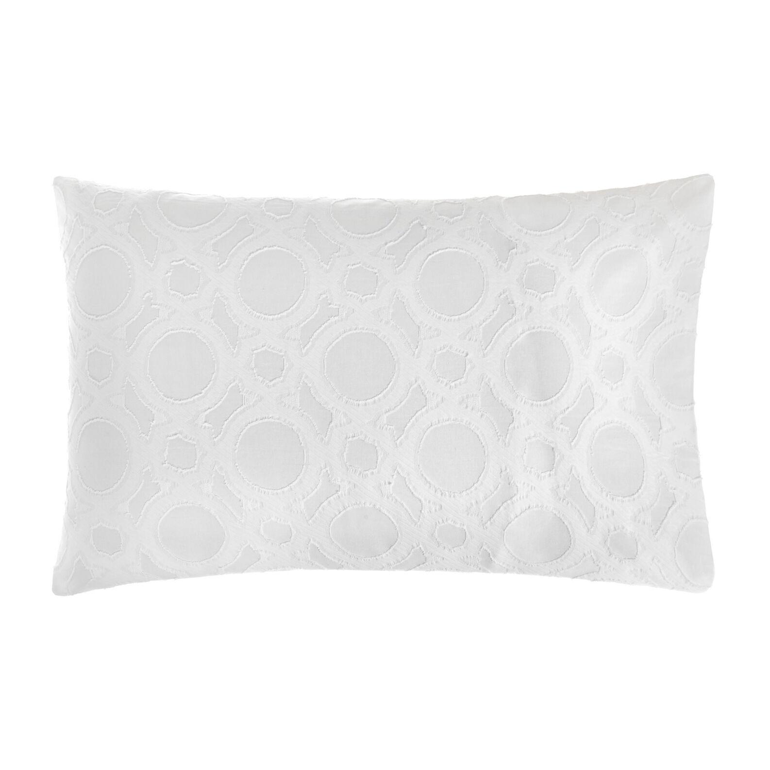 Cotton jacquard  pillowcase with circle pattern