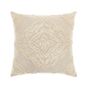 Cushion with embroidered application 45x45cm