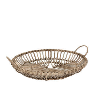 Handmade decorative rattan tray