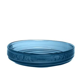 Decorative coloured glass plate