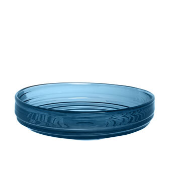 Piatto decorativo vetro colorato in pasta
