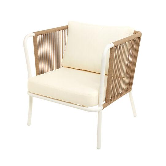 Agadir armchair in polyester and aluminium