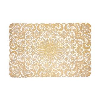 Tovaglietta rettangolare oro