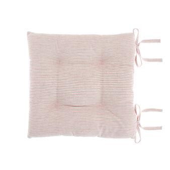 Cuscino da sedia puro cotone motivo righe