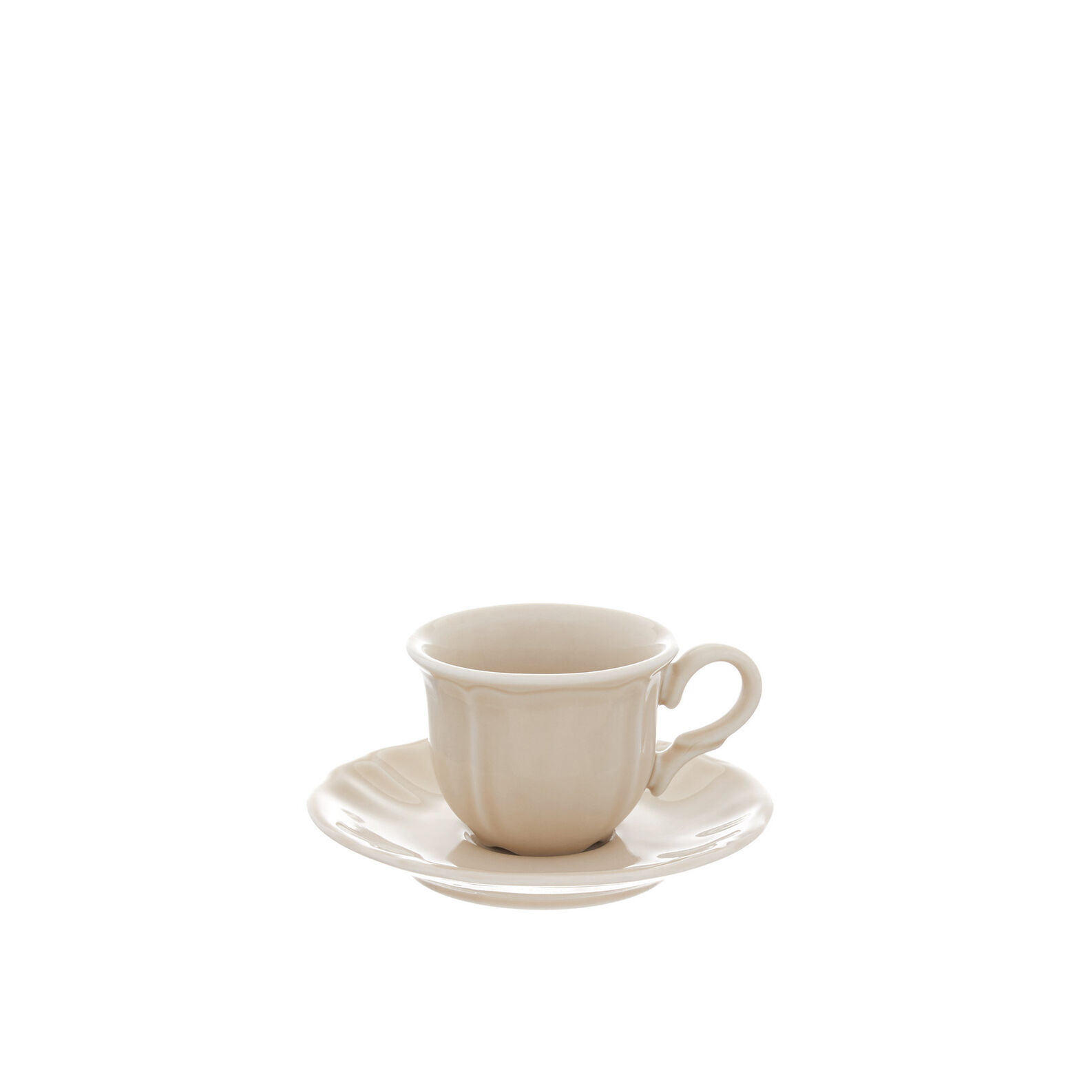 Romantic glazed china coffee cup