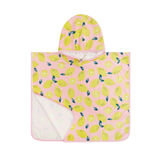 Lemon motif cotton velor poncho, kid's size