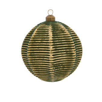 Hand-decorated striped bauble