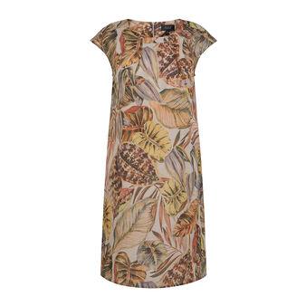 Koan pure linen dress with print