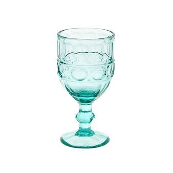 Cut glass colored paste goblet