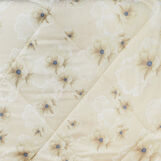 Trapunta raso di cotone fantasia fiori