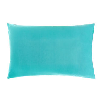 Solid colour pillowcase in cotton percale