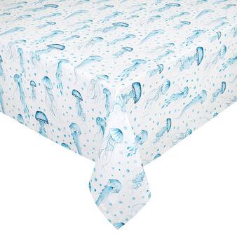 Tovaglia puro cotone organico idrorepellente stampa meduse