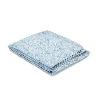 Trapunta leggera puro cotone percalle stampa damascata
