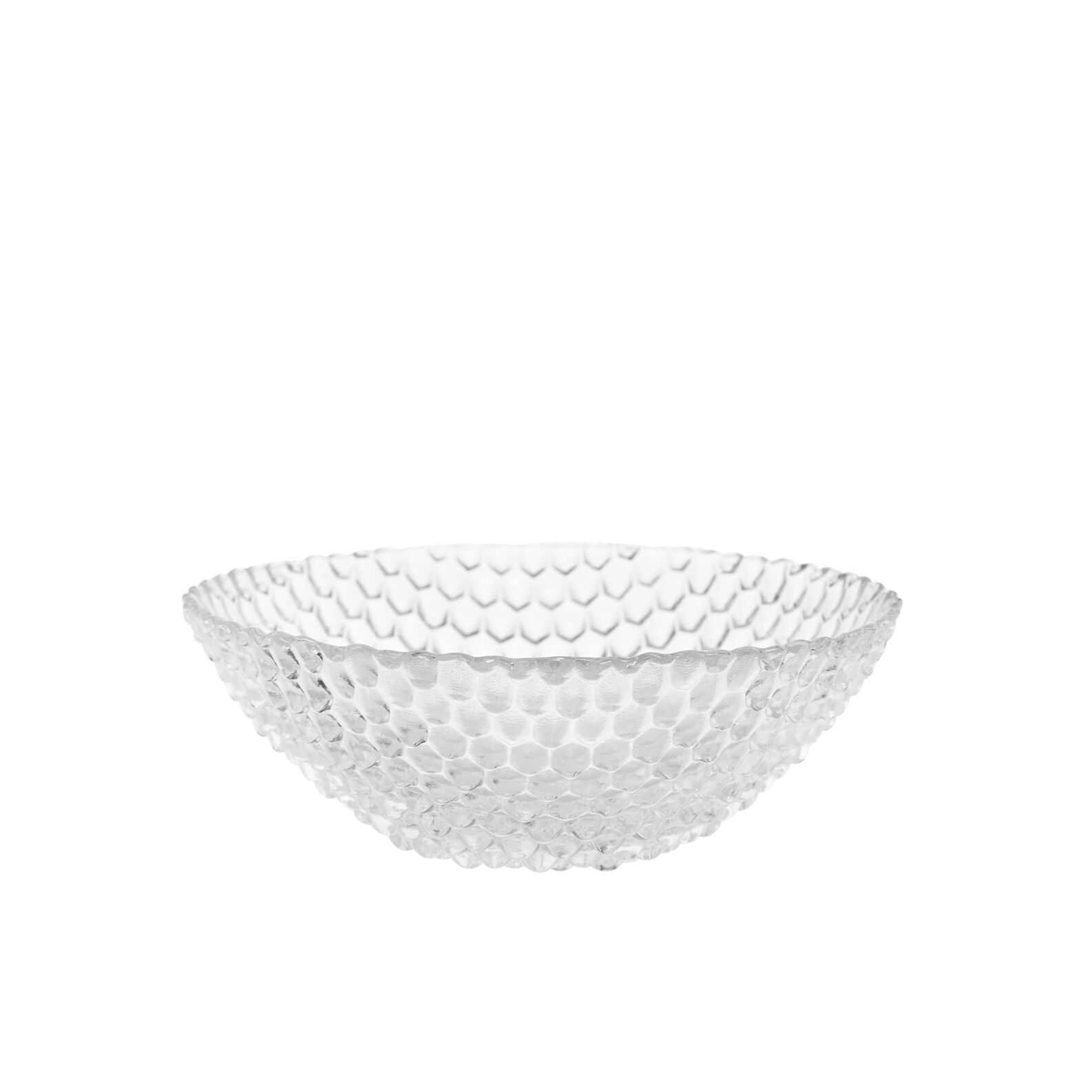 Small diamond-effect glass bowl