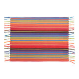 Yarn-dyed table mat in 100% cotton with stripes