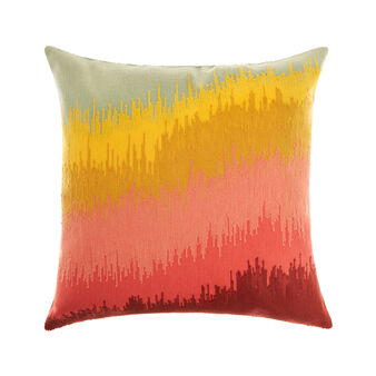 Cushion with abstract embroidery 45 x 45 cm