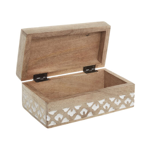 Hand-engraved wooden box