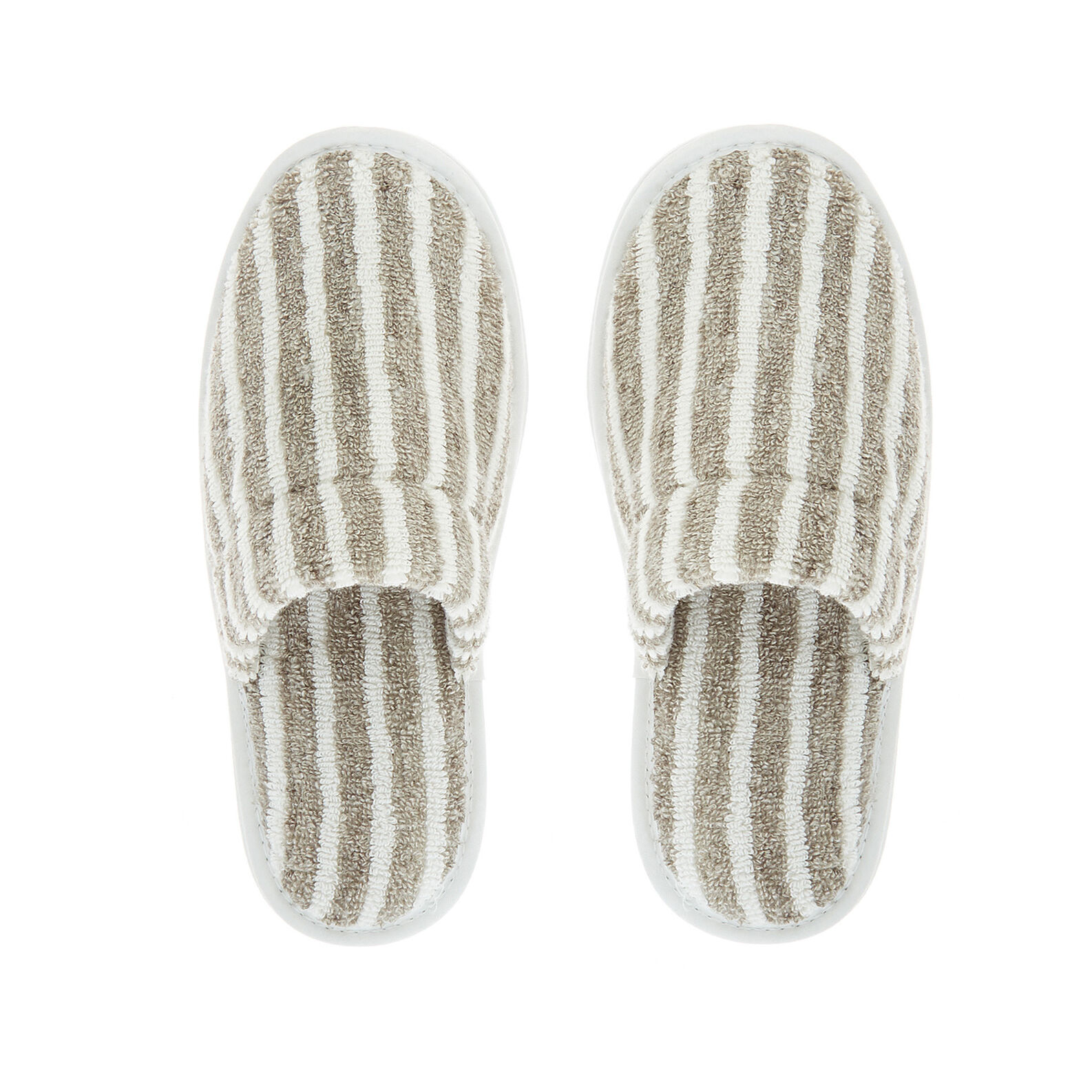 Thermae striped slippers in 100% cotton